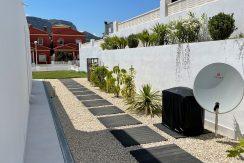 tuin achter huis